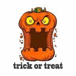 61601082 - vector halloween pumpkin illustration isolated on white background